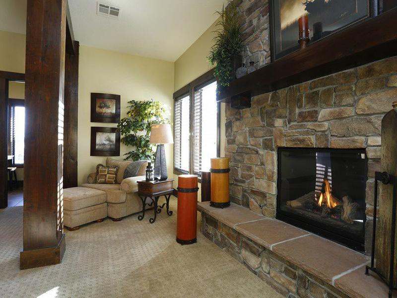 Fireplace | The Village at Silver Ridge
