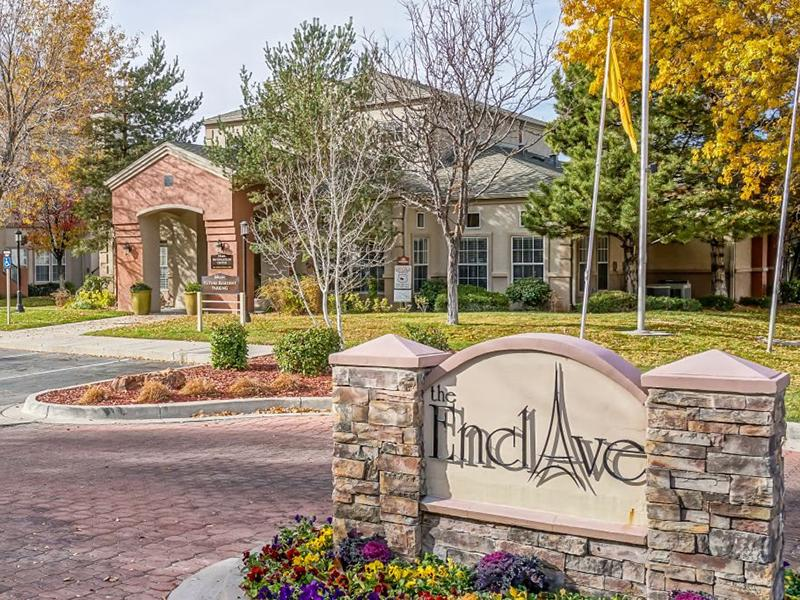 Welcome Sign  | The Enclave Apartments