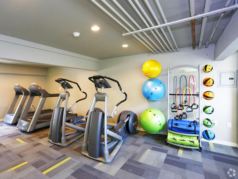 Apartments for Rent in Van Nuys, CA - Lake Balboa Townhomes Gym with Updated Machines and Equipment
