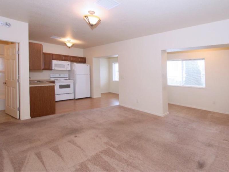 Front Room | Kitchen | The Incline Apartments