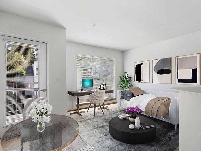 Living Area | 999 Hiawatha Apartments in Seattle, WA