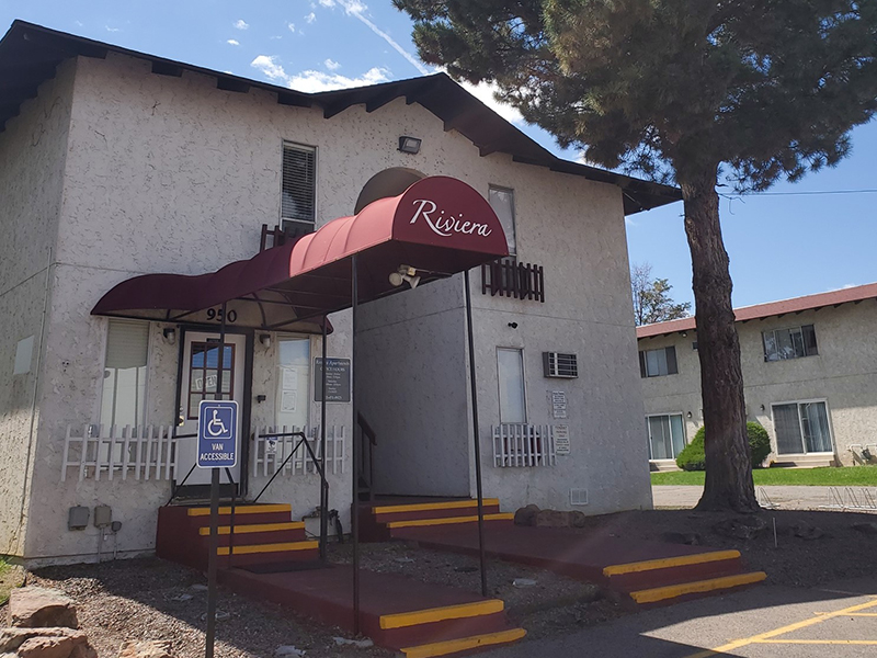 Office Entrance | Riviera Apartments in Northglenn, CO