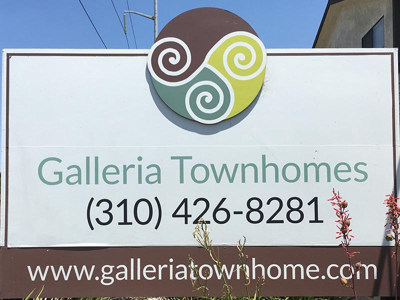 Welcome Sign  | Galleria Townhomes