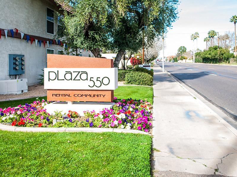 Welcome Sign | Plaza 550