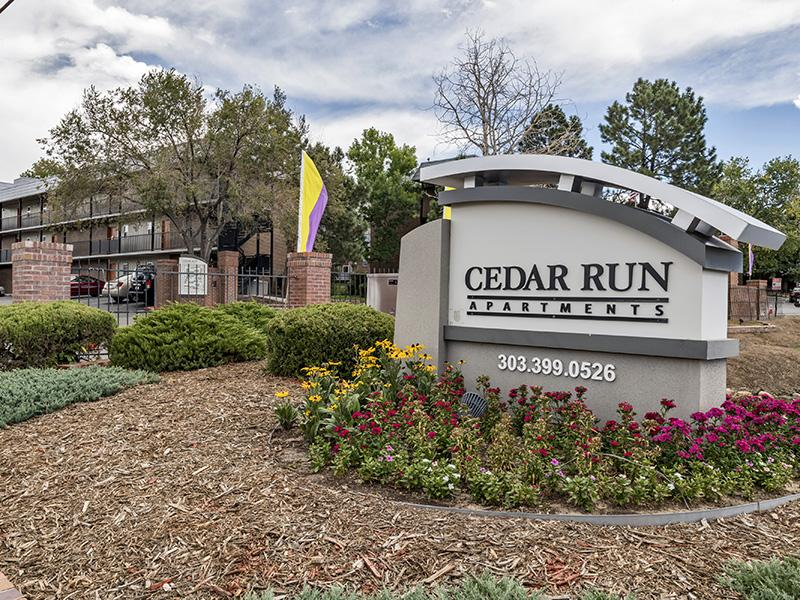 Sign | Cedar Run Apartments