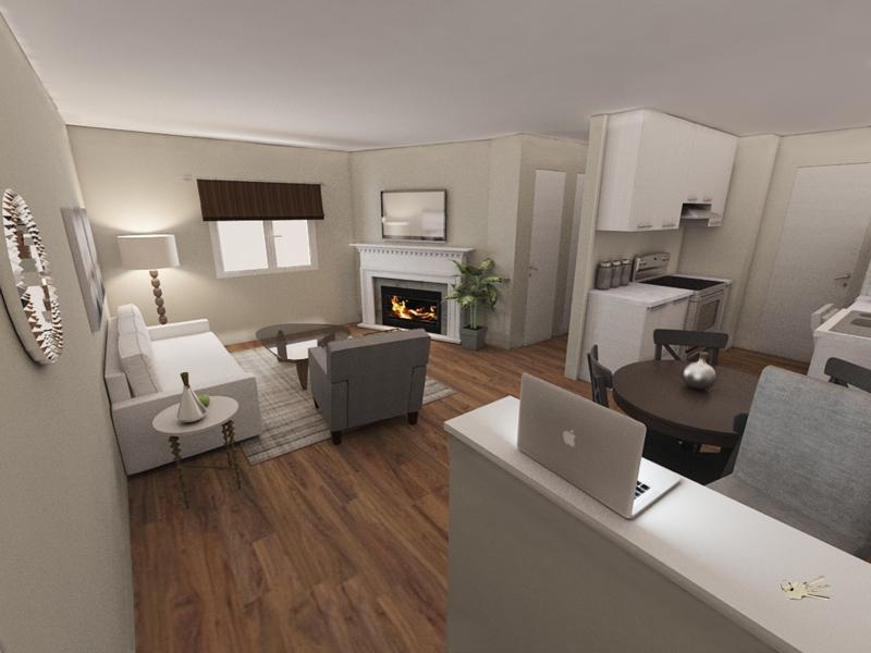 Front Room Rendering | Edge at Fitzsimons Apartments