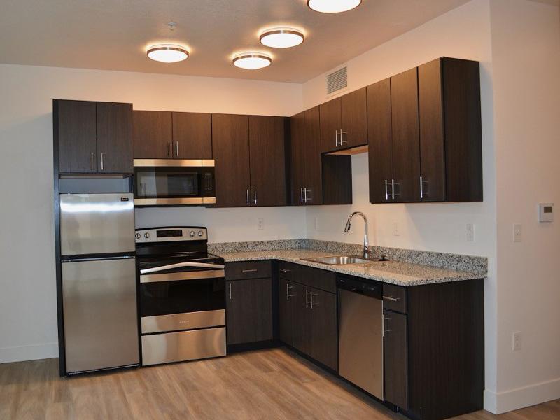 Fully Equipped Kitchen   Studios on Gordon Apartments in Layton, UT