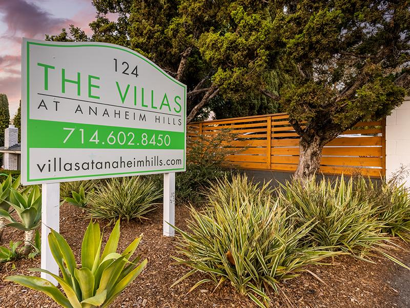 Welcome Sign | The Villas at Anaheim Apartments