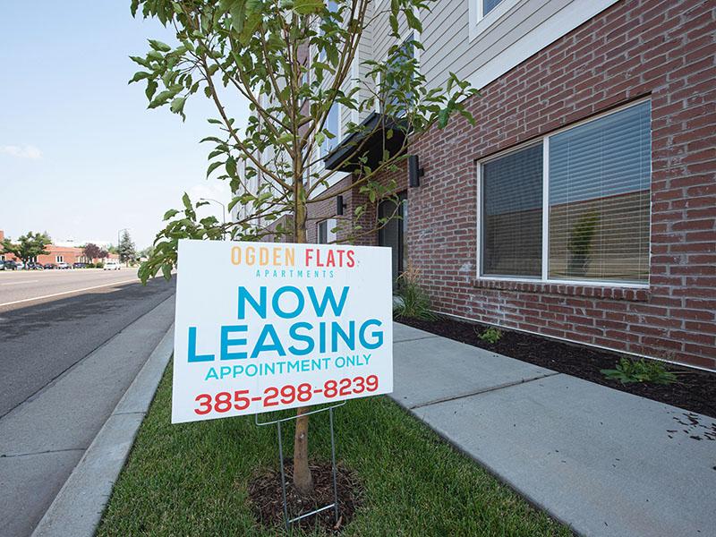 Welcome Sign | Ogden Flats Apartments in Ogden, UT
