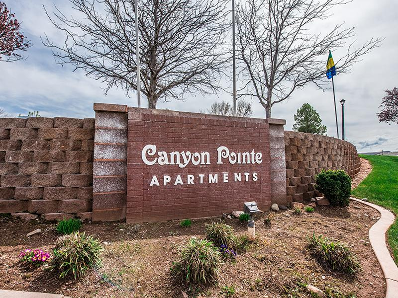 Welcome Sign | Canyon Pointe Apartments