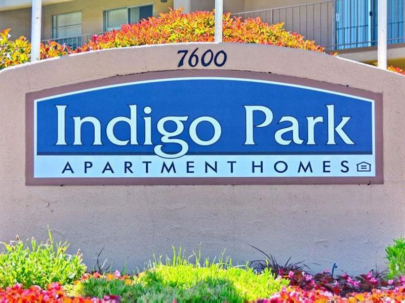 Welcome Sign | Indigo Park Apartments