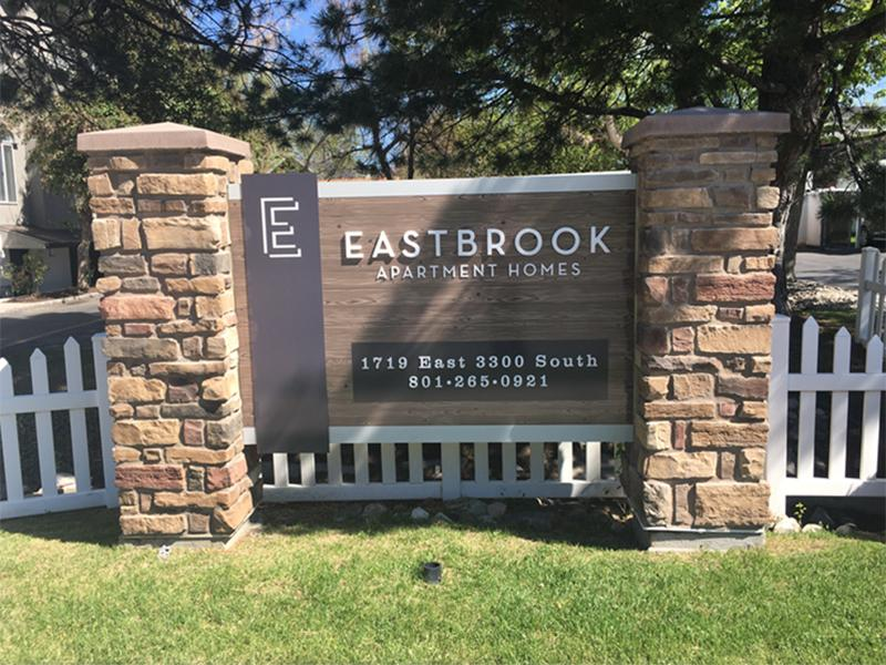 Monument Sign | Eastbrook Apartments in Salt Lake City, UT