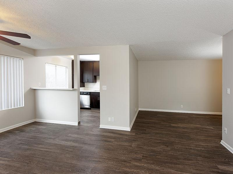 Living Room - The Square Apartments - Downey, CA