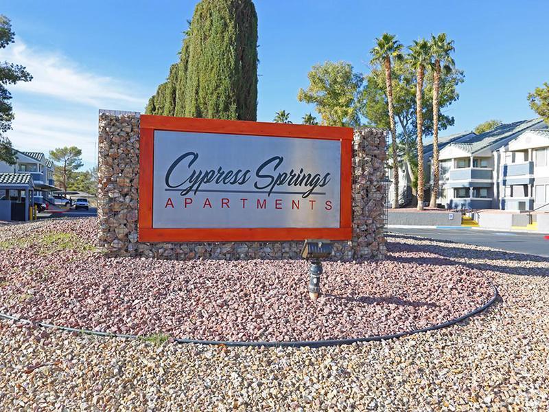 Welcome Sign | Cypress Springs in Las Vegas