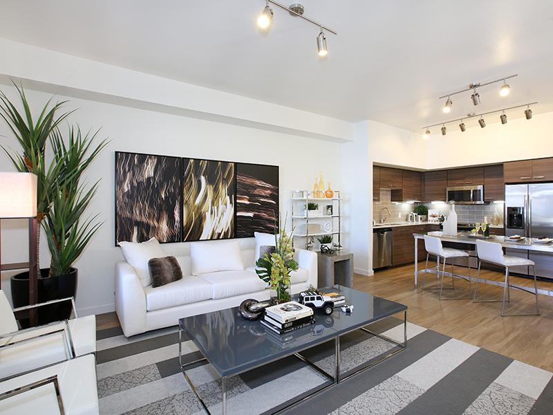 Living Area | Tempo at Riverpark Apartments