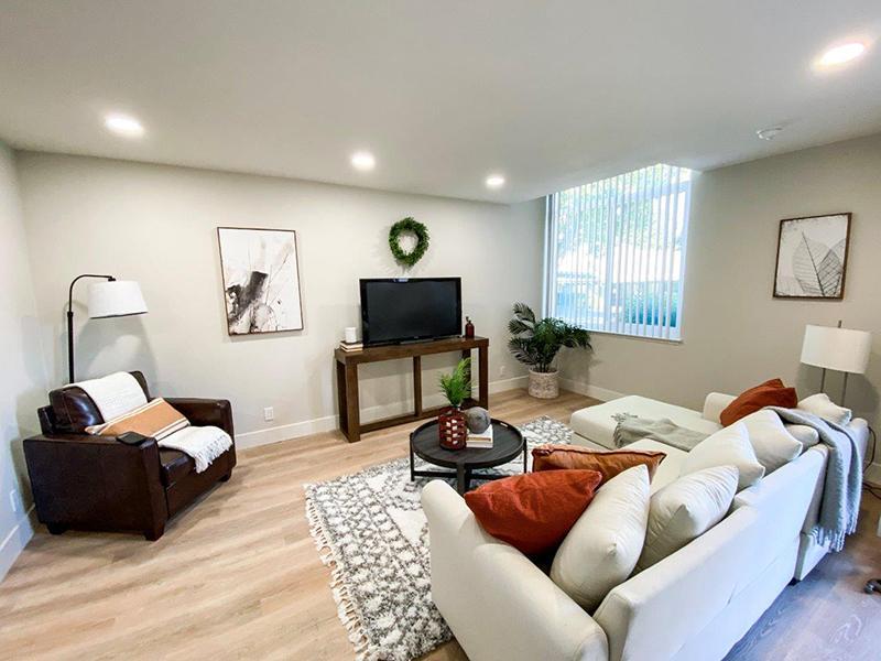 Furnished Living Room   Appian Terrace Apartments in El Sobrante, CA