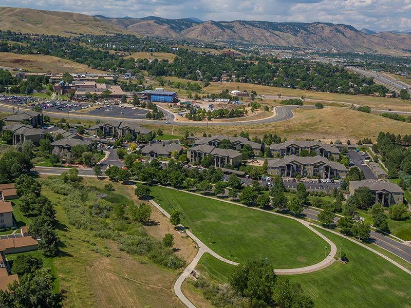 Arial View of  Elevate at Red Rocks Apartments