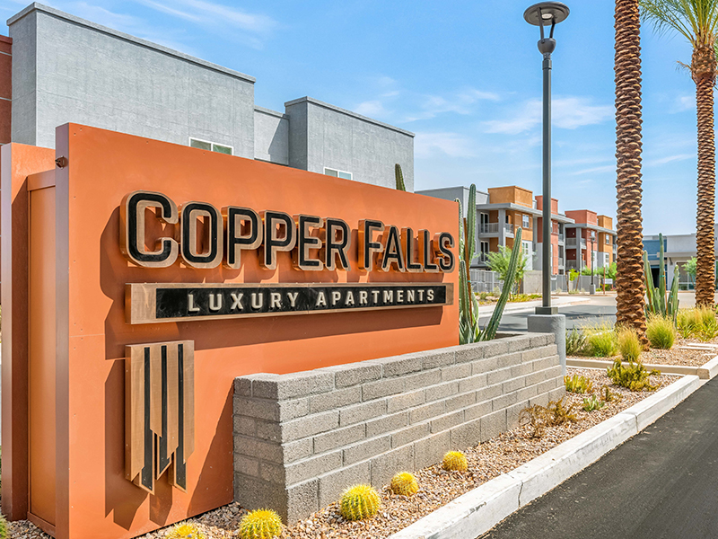 Welcome Sign | Copper Falls Apartments in Glendale, AZ