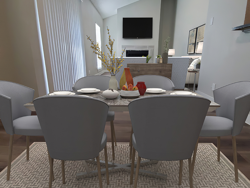 Dining Room - Staged | Retreat at Medical Center in San Antonio, TX