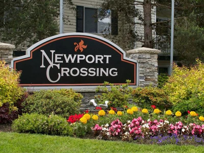 Welcome Sign | Newport Crossing Apts in Newcastle, WA