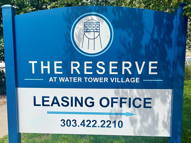 Welcome Sign | The Reserves at Water Tower Village Apartments