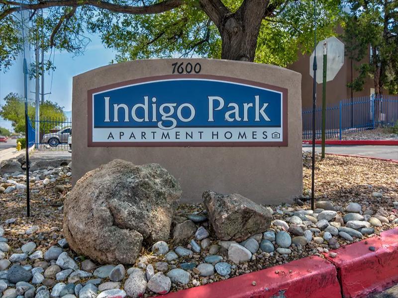 Welcome Sign | Indigo Park Apartments