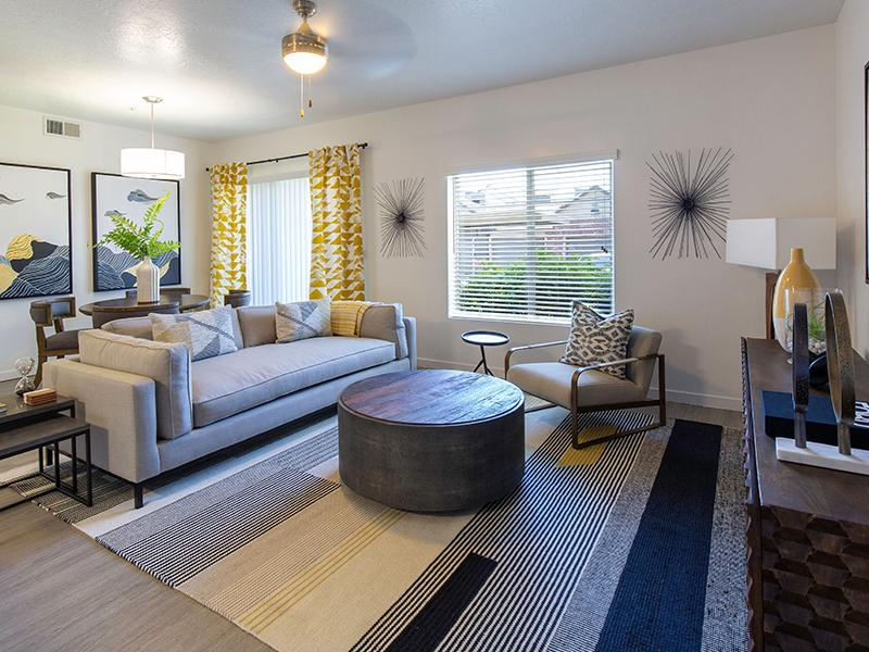 Renovated Living room furnished | Wilshire Place