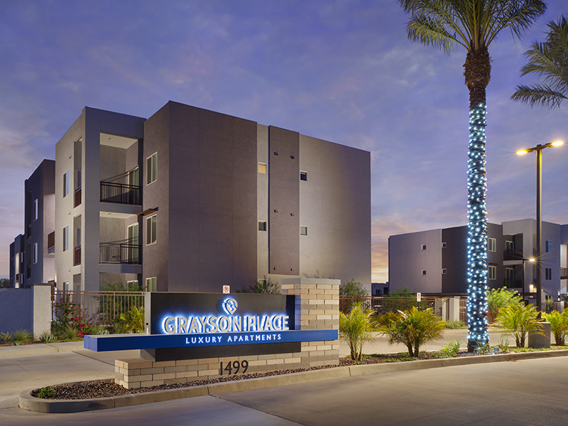 Welcome Sign | Grayson Place Apartments in Goodyear, AZ