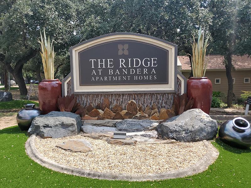 Welcome Sign | The Ridge at Bandera Apartments in San Antonio, TX