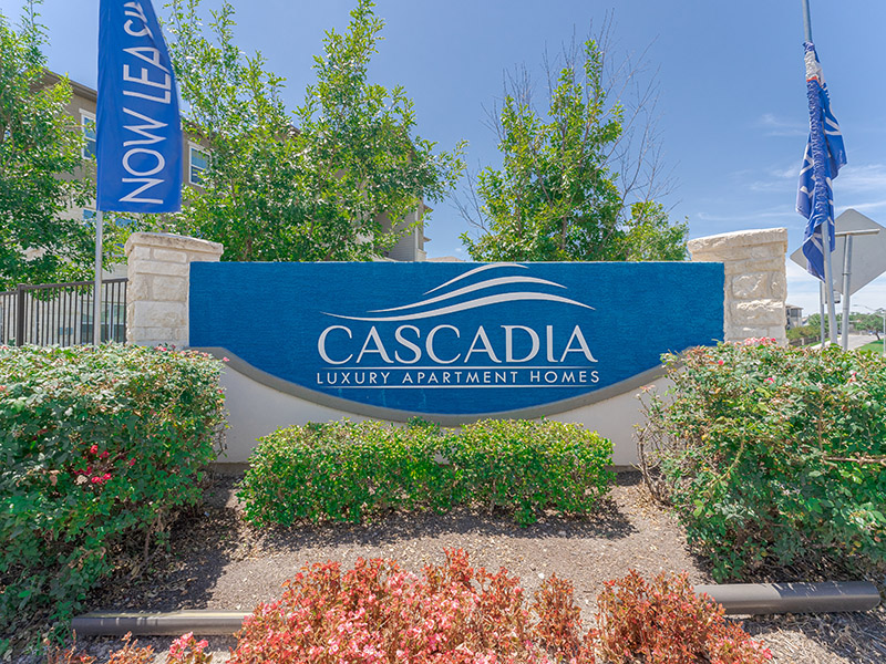 Monument Sign | Cascadia Apartments in San Antonio, TX