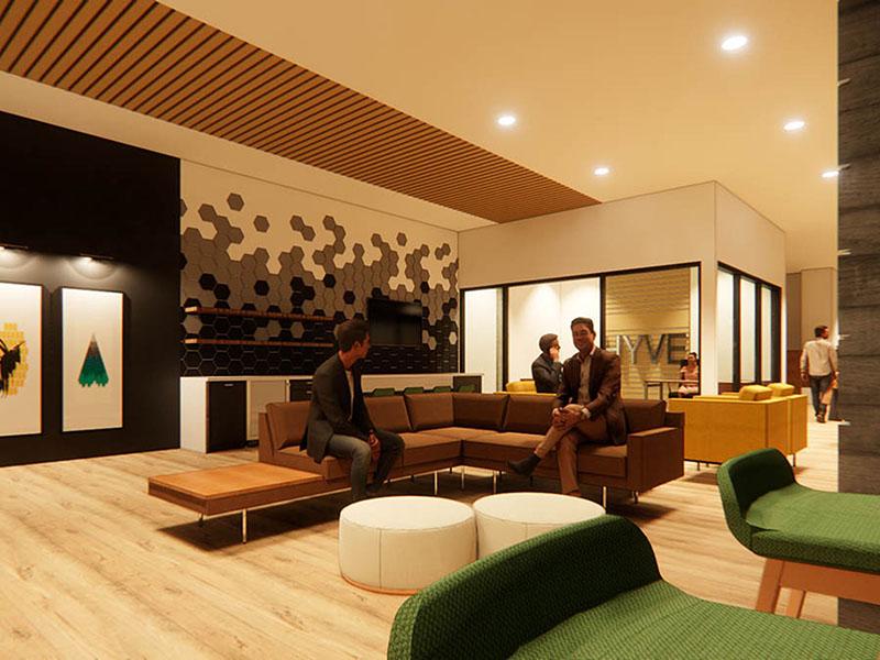 Lobby   Hyve Apartments in Salt Lake