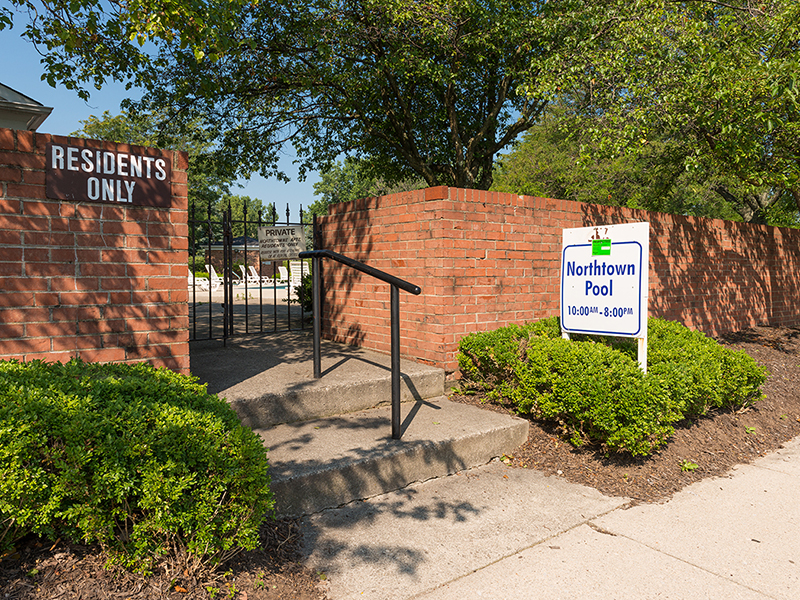 Pool Entrance | Northtowne Apartments in Columbus, OH