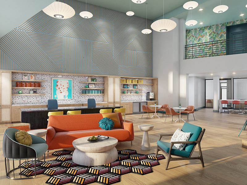 Clubhouse Lobby | The Oasis Apartments