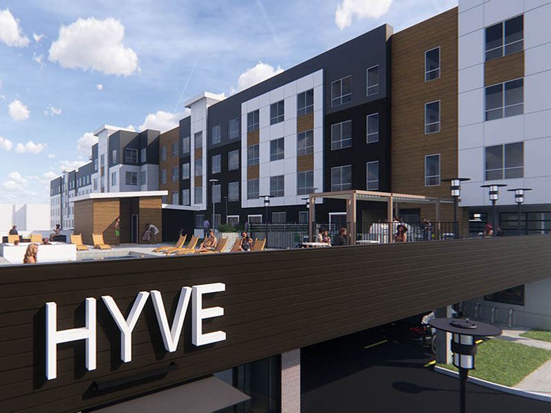 Monument Sign   Hyve Apartments in Salt Lake