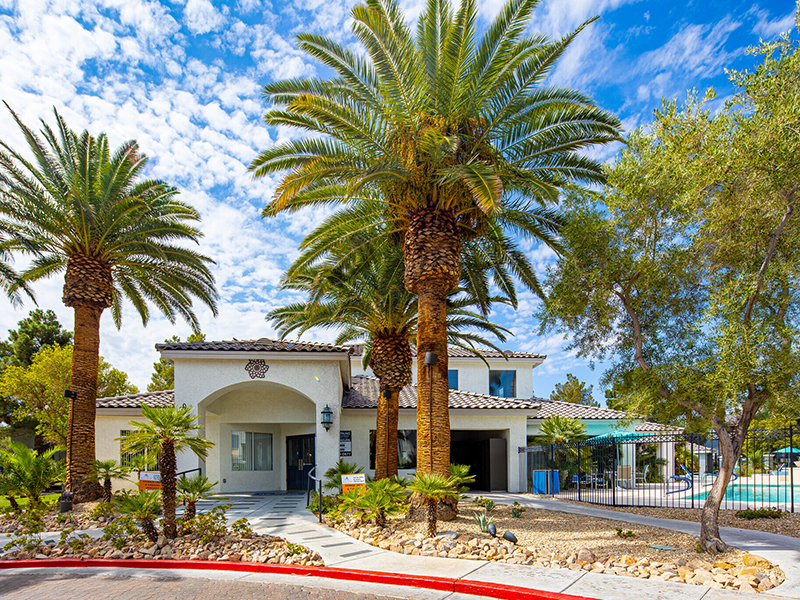 Clubhouse Exterior | Palms at Peccole Ranch Apartments in Las Vegas, NV
