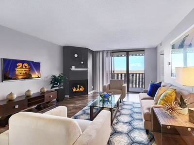 Living Room - Axis at 9 Mile Apartments - IL