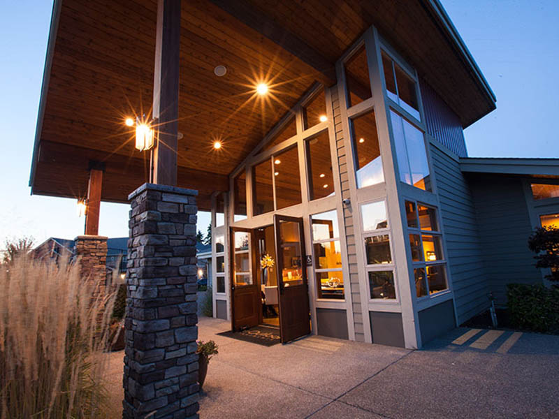 Clubhouse Exterior | The Outlook Apartments in Graham, WA