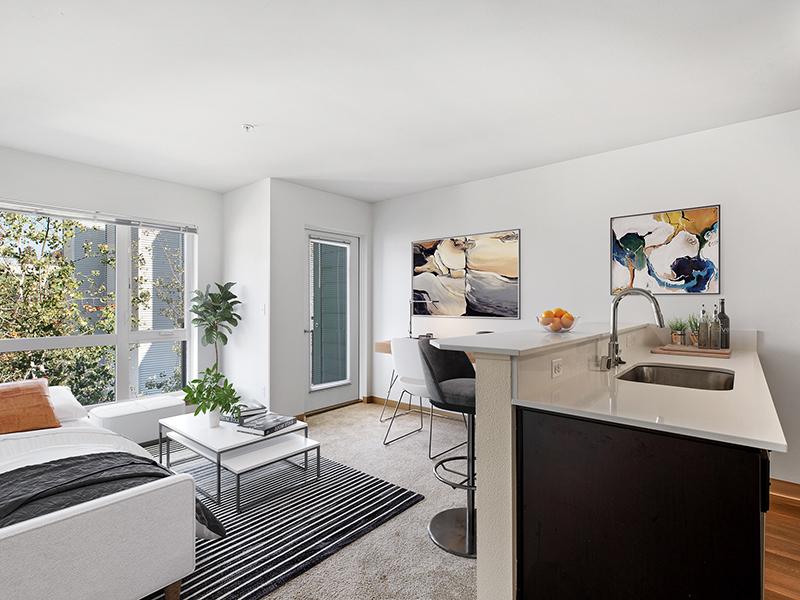 Living Room | 999 Hiawatha Apartments in Seattle, WA