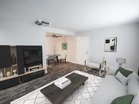 Decorated Living Area | Holladay on Ninth