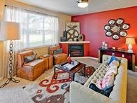 Living Room | Jory Trail at The Grove Apartments
