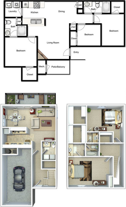 3D Floor plans | Virtual Tours | Apartment layouts
