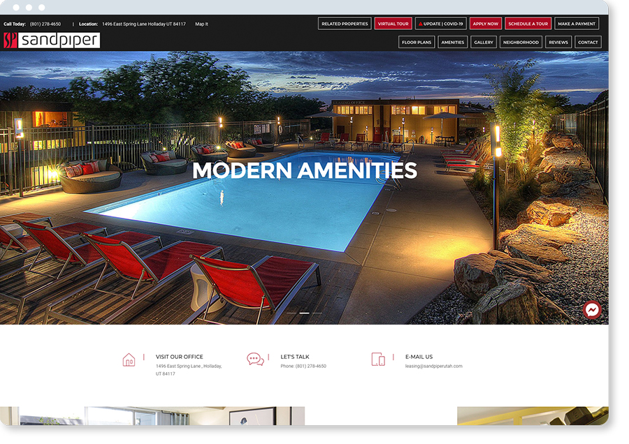 apartment website design
